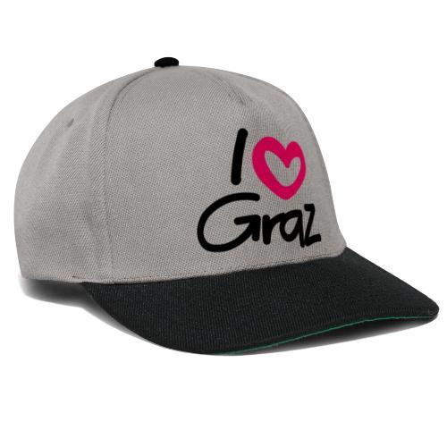 I love Graz. - Snapback Cap