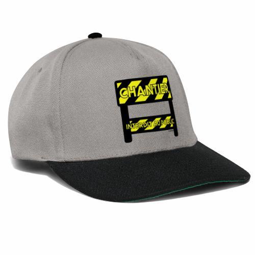 Werk in uitvoering - Snapback cap