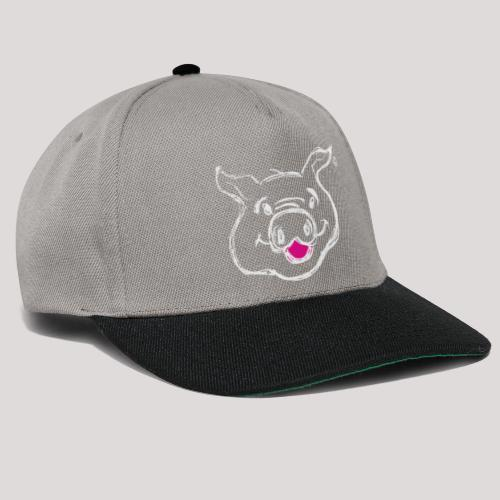 HAPPY PIGPIGGY White - Snapback Cap