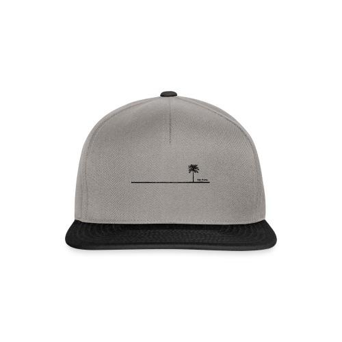 Palm dubai beach black and white - Snapback Cap