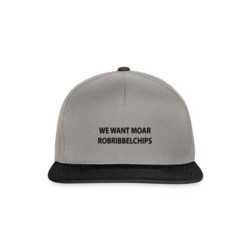 We want Moar RobRibbelchips T-Shirt (Female) - Snapback Cap