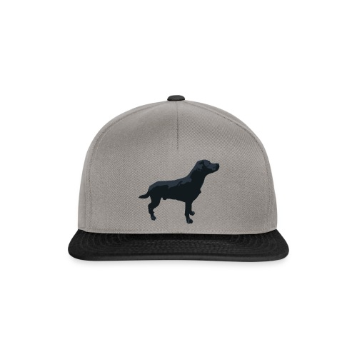 Labrador Hund stehend - ganzes Profil Seite - Snapback Cap