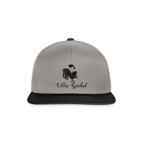 Schwarzes Villa Gockel Logo - Snapback Cap