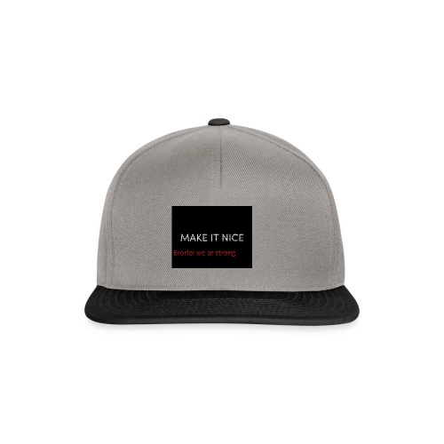 MAKE IT NICE page - Snapback Cap