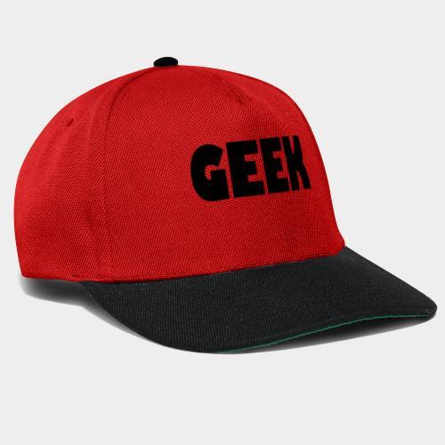 GEEK Text Logo Black - Snapback Cap