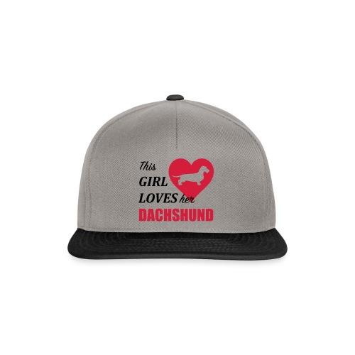This Girl loves her Dachshund - Snapback Cap
