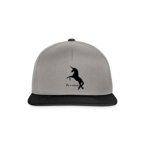 Be a unicorn - Snapback Cap