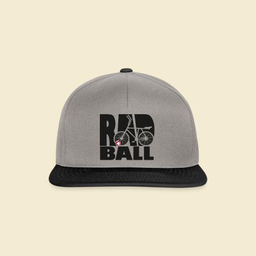 Radball | Typo Black - Snapback Cap