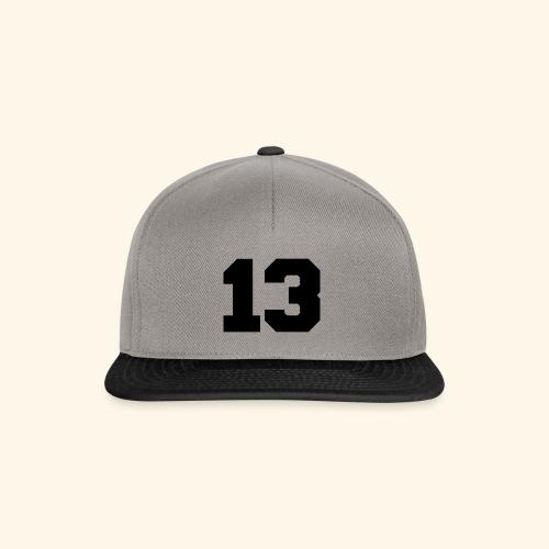 13 black - Snapback Cap