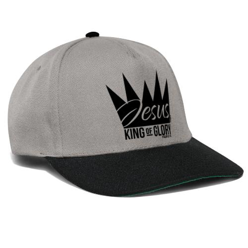 JESUS KING OF GLORY // Psalm 24:10 (BLACK) - Snapback Cap