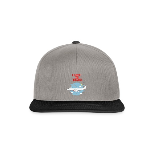 I Love To Travel - Snapback Cap