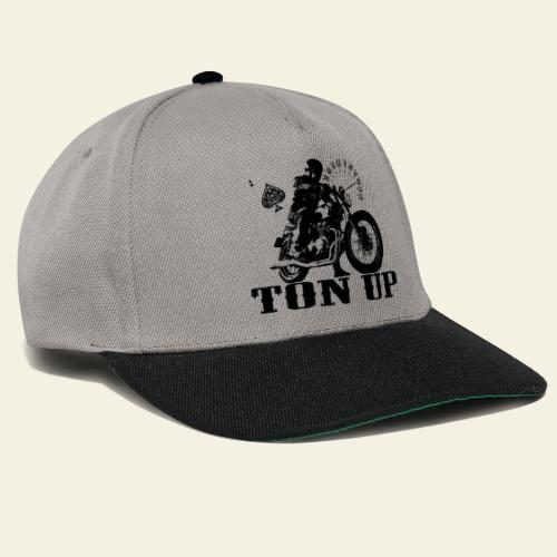 ton up black - Snapback Cap