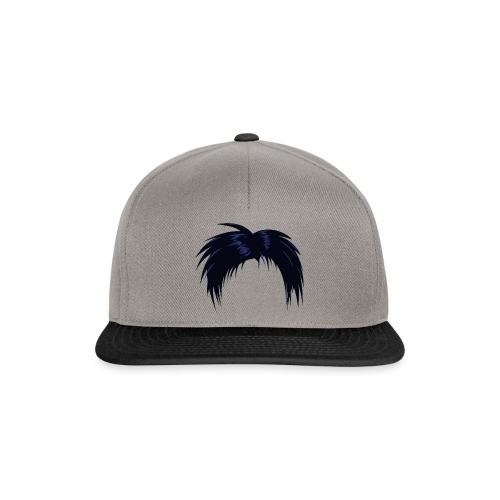 musta, hiukset - Snapback Cap