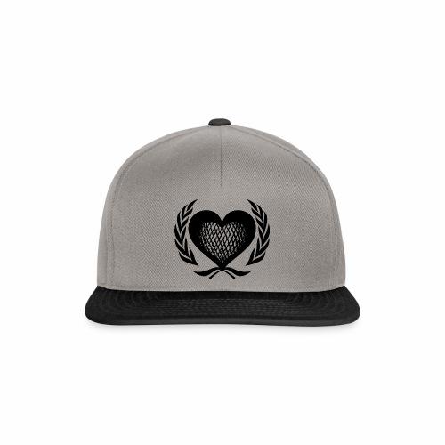 Herz Kranz Gitter Netz Logo Emblem Geschenkidee - Snapback Cap