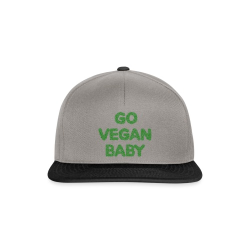 go vegan baby - Snapback Cap