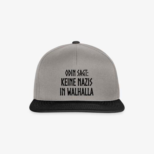 Keine nazis in walhalla - Snapback Cap