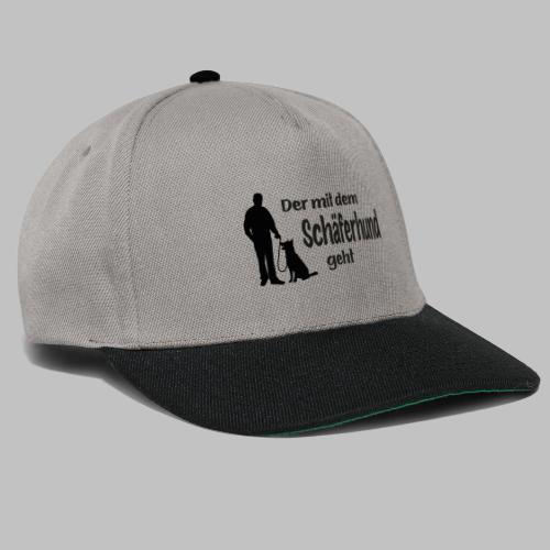 Der mit dem Schäferhund geht - Black Edition - Snapback Cap