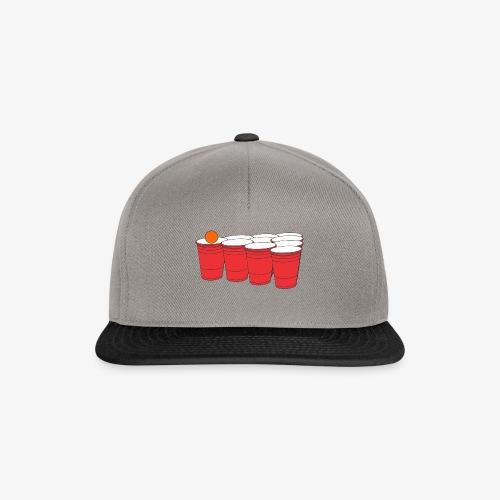 Beerpong Party Motiv T-Shirt - Snapback Cap