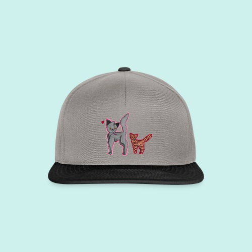 cat and kitten - Snapback Cap