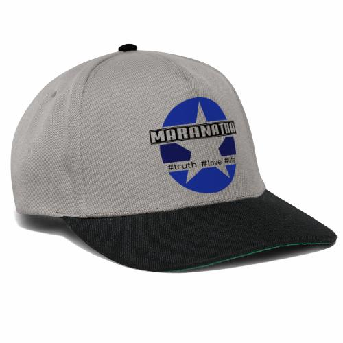 maranatha blau-braun - Snapback Cap