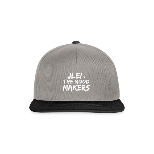Jlei & The Mood Makers Schriftzug Weiss - Snapback Cap
