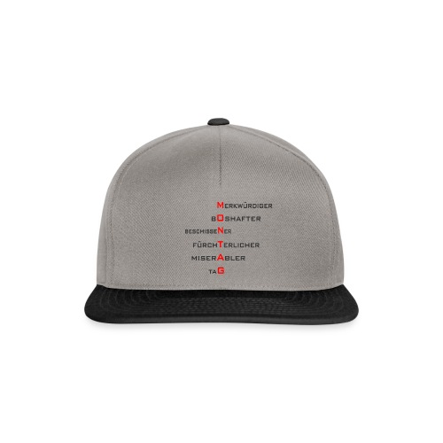 Montag-Style1 - Snapback Cap