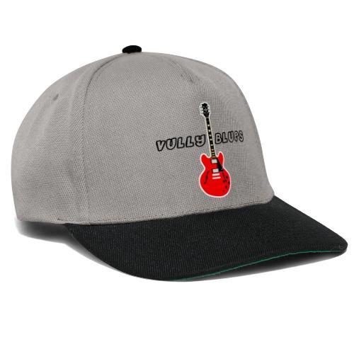 Guitare avec texte Vully Blues classique noir - Snapback Cap