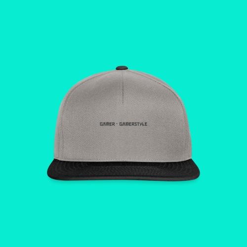 GAMERSTYLE | NICESCHRIFT Schwarz - Snapback Cap