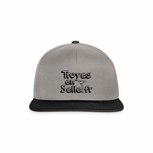 logo Troyes en Selle noir - Casquette snapback