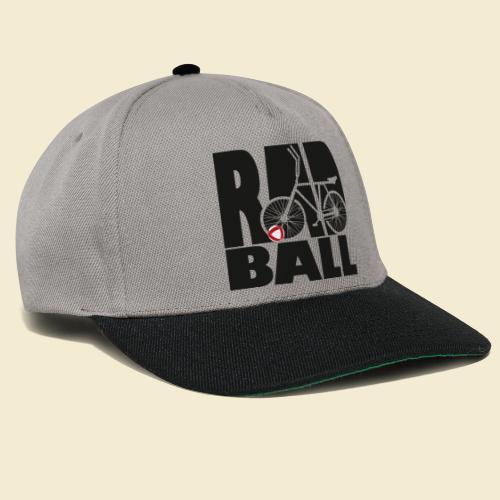 Radball   Typo Black - Snapback Cap