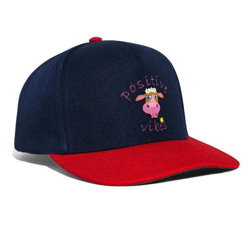 positive cow pink - Snapback Cap