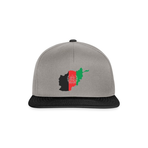 Afghanistan Flag in its Map Shape - Snapback Cap
