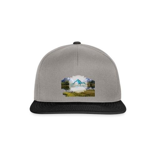 Logo mit Berglandschaft - Snapback Cap