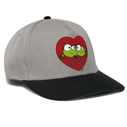 Grenouilles Frogs, Love, St. Valentin, couple - Casquette snapback