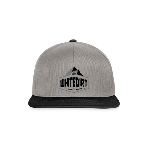 White Dirt Mountain Eco White / Orange - Snapback Cap