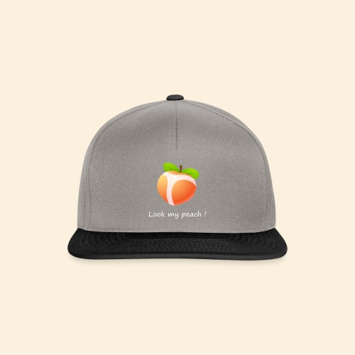 Look my peach in white - Snapback Cap