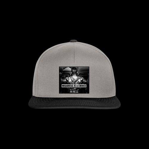 Weakness Is A Choice Standard - Snapback Cap