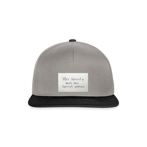 Dein Spruch - Snapback Cap