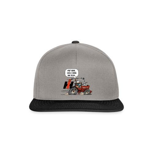 0857 wait here shotgun - Snapback cap
