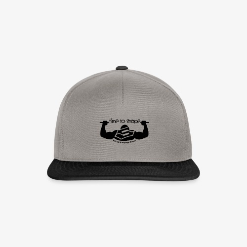 New timetoshape one color black png - Snapback Cap