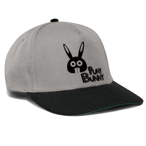 Puny Bunny text - Snapback Cap