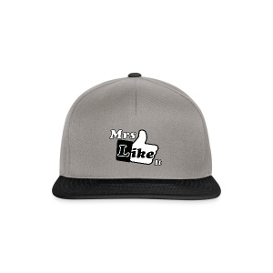 Mrs Like it - shirt (zwart-wit) - Snapback cap