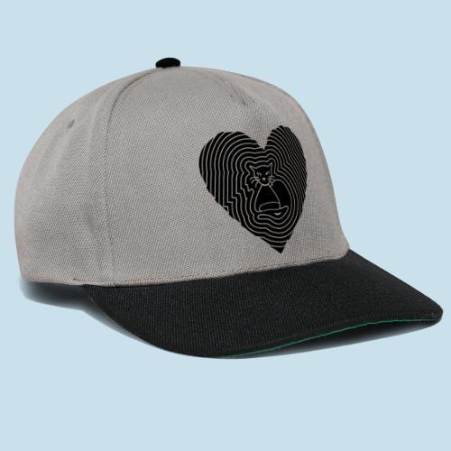 Katzen Spirale Herz - Snapback Cap