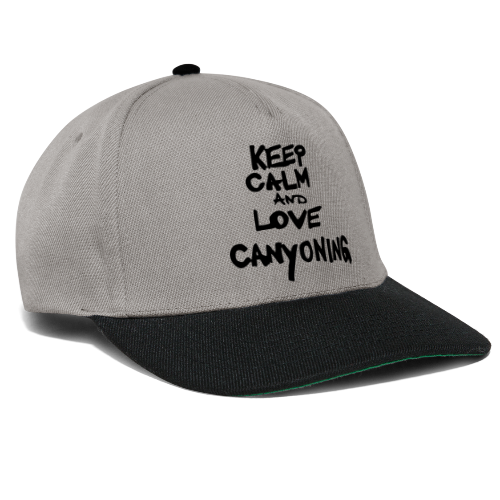 keep calm and love canyoning - Snapback Cap