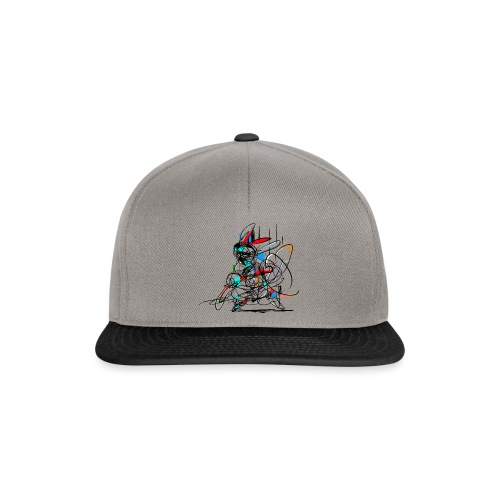 Ninja fighter Easter Bunny / Abstract - Snapback Cap