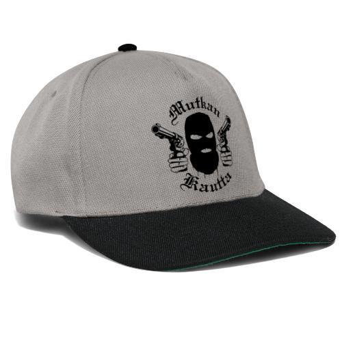 Mutkan Kautta remix - musta printti - Snapback Cap