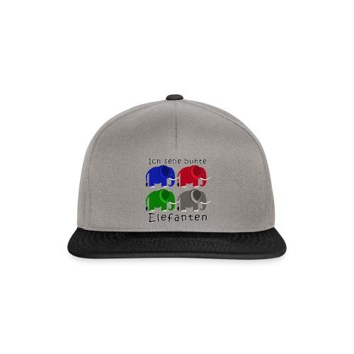 Vier Elefanten (Grafik) - Snapback Cap