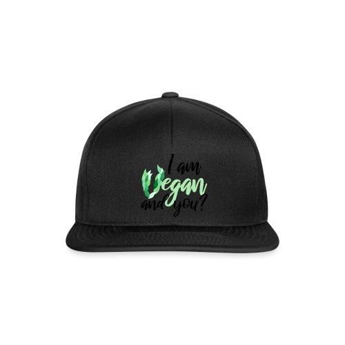 i am vegan and you - Snapback Cap