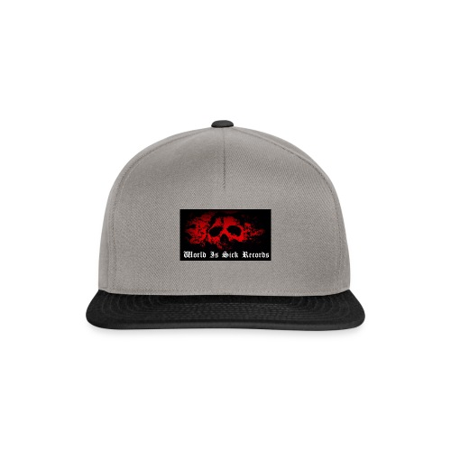 World Is Sick Skull Huppari - Snapback Cap