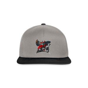 TRACTOR white border - Snapback cap